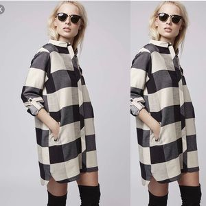 TOPSHOP CHECK SHIRT DRESS
